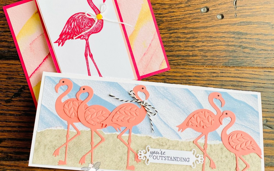 Friendly Flamingo Card Duo – Facebook Live Take Two!