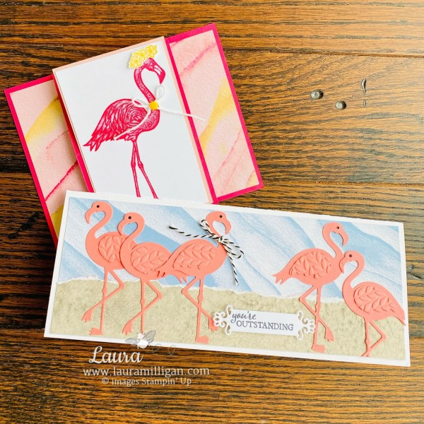 Friendly Flamingo Cards Laura Milligan Facebook Live Take Two April 22 2021