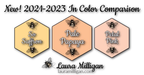 New Stampin' Up! In Color Comparison 2021 - 2023 Laura Milligan Pale Papaya