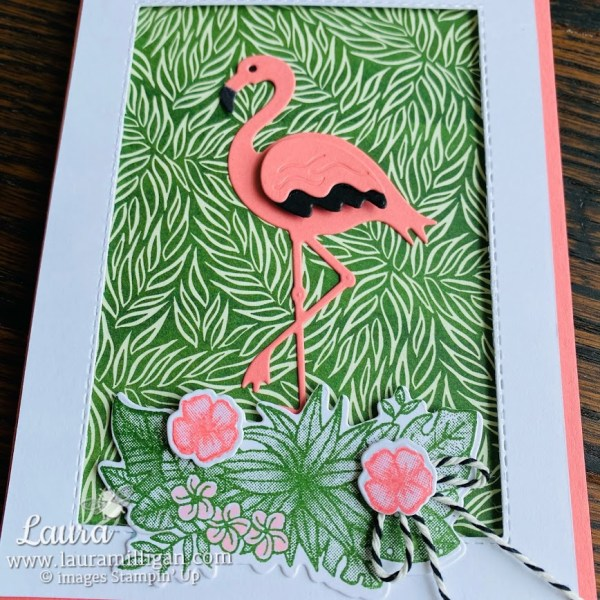 friendly flamingo card 2 Forever Greenery Laura Milligan Stampin' Up!