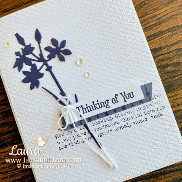 quiet meadow hand stamped card by Laura Milligan earn free rewards Stampin Up!