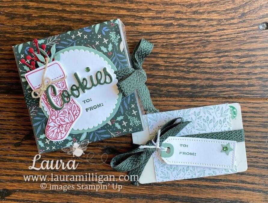 Tidings of Christmas – Cookies Box & Gift Card Holder