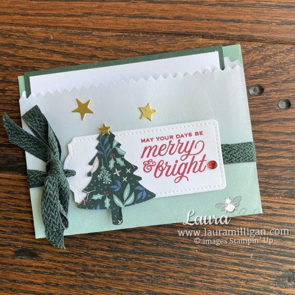 Laura Milligan, Create this gift card pocket holder with In Color Gift Bags