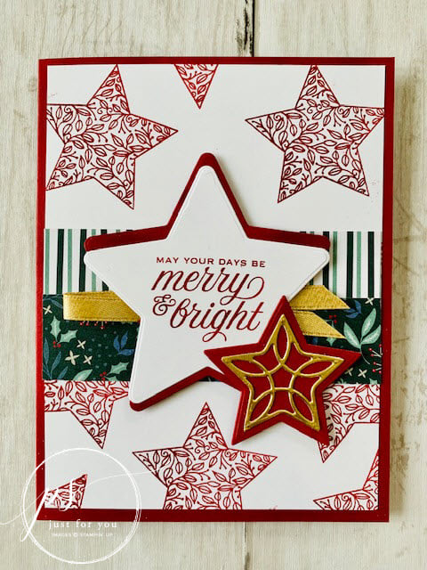 Bee Creative Tutorial – Merry & Bright Christmas in July
