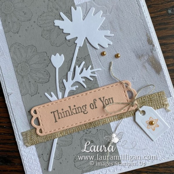Quiet Meadow Bundle Handmade Card Laura Milligan Earn Free Stampin' Up! Product