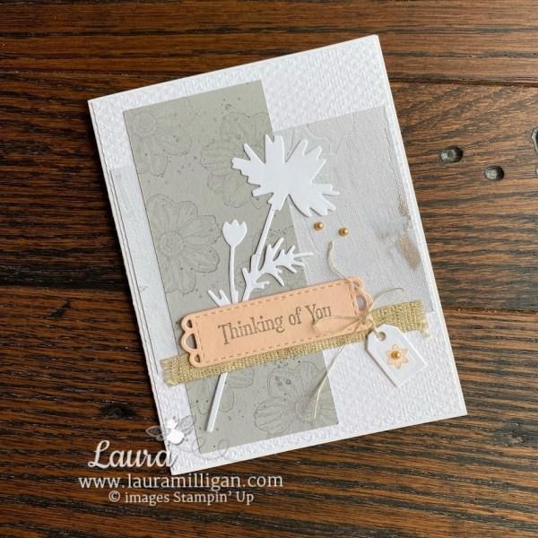 Quiet Meadow Bundle Handmade Card Stampin' Up! demonstrator Laura Milligan