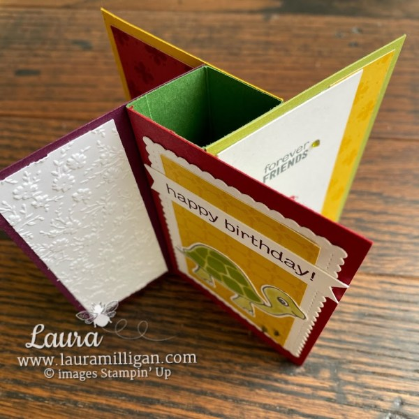 how to make a tower pinwheel card by Laura Milligan Turtle Friends Bundle Stampin' Up!