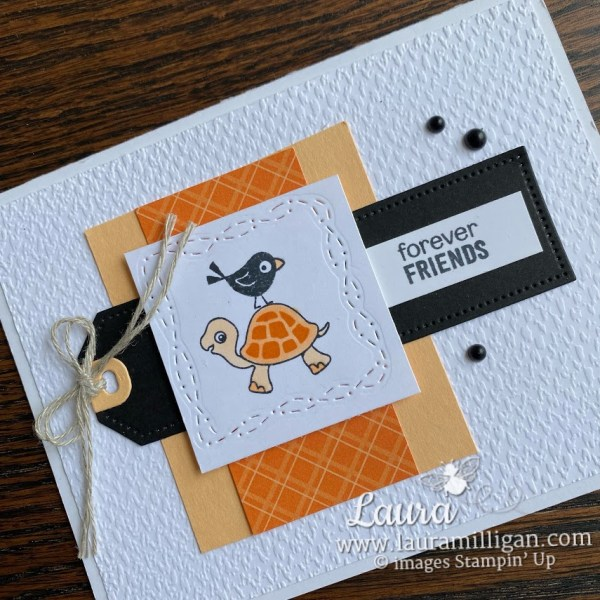 turtle friends card by Laura Milligan How to make a handmade card Stampin' Up!