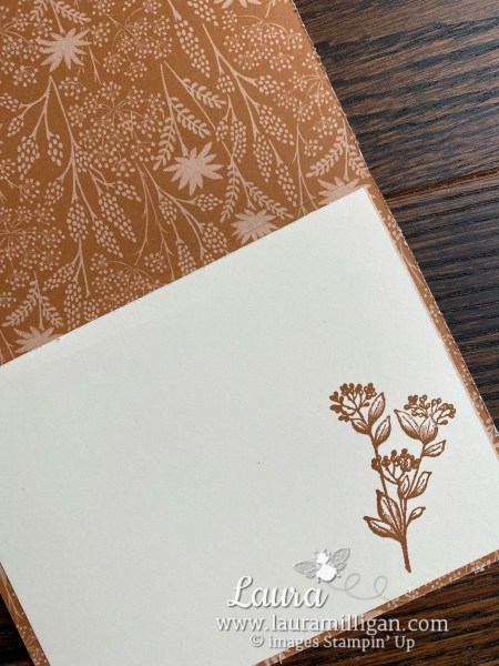 Blackberry Beauty Suite by Stampin' Up! Card by Laura Millgian Facebook Live Tutorial Inside of Card
