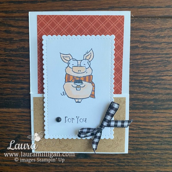 Joyful Life Stamp Set by Stampin' Up! Card by Laura Milligan Earn Free Bees
