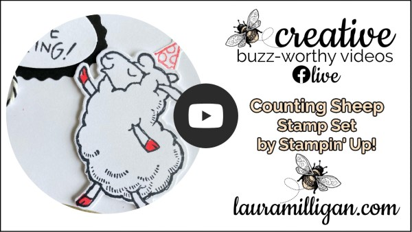 Laura Milligan YouTube Thumbnail Counting Sheep Stamp Set