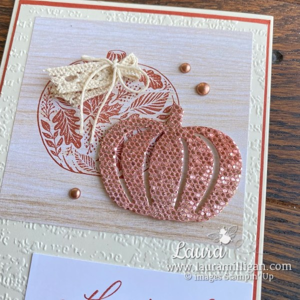 Pretty Pumpkins Bundle with Be Dazzling Specialty Paper Laura Milligan Stampin' Up!