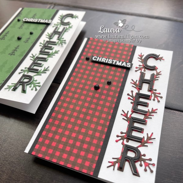Stampin' Up! Words of Cheer Bundle Note Christmas Note Cards by Laura Milligan I'd Rather Bee Stampin Earn Free Bees