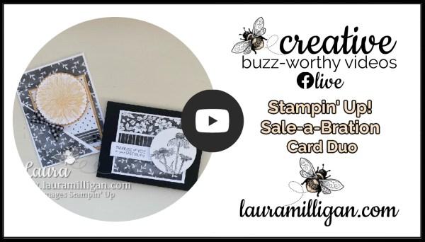 Laura Milligan YouTube Thumbnail Saleabration Card Duo