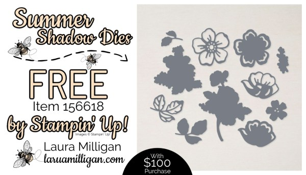 Summer Shadow Dies From Stampin' Up! 156618 Cards by Laura Milligan Id Rather Bee Stampin