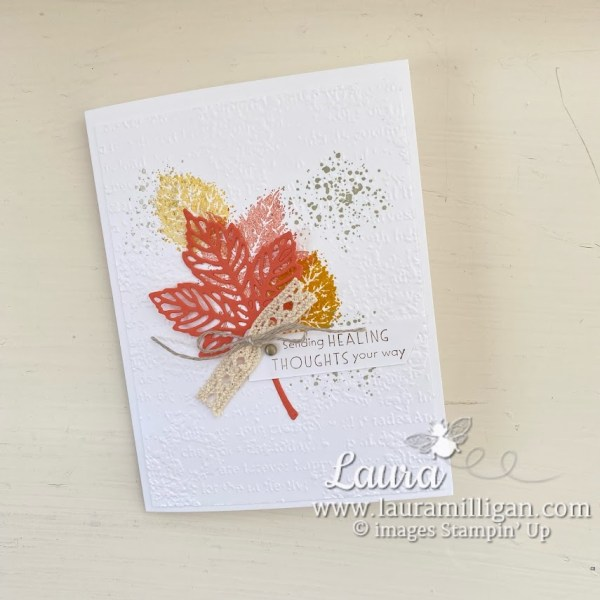 create a fall card with Gorgeous Leaves Bundle Stampin' Up! by Laura Milligan Earn Free Product
