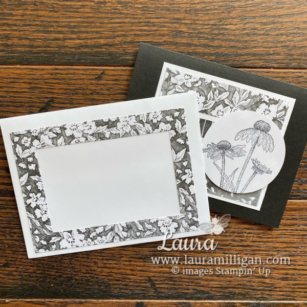 create a frame for your envelope with Beautifully Penned Designer Series Paper Laura Milligan Demonstrator