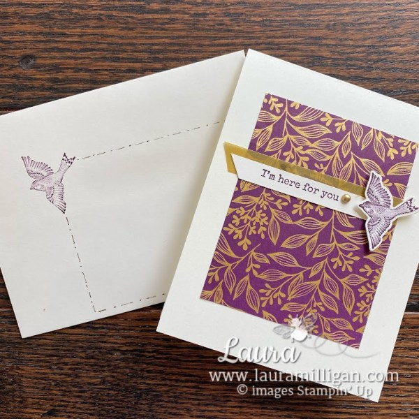 create a simple frame for your envelope address Laura Milligan Stampin' Up! Demonstrator Earn Free Product Ordering Special