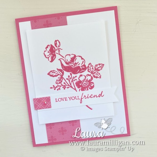 create this friendship card by Laura Milligan Stampin' Up! Shaded Summer Stamp Set