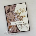 make a beautiful hand made card with Blackberry Beauty Suite by Stampin