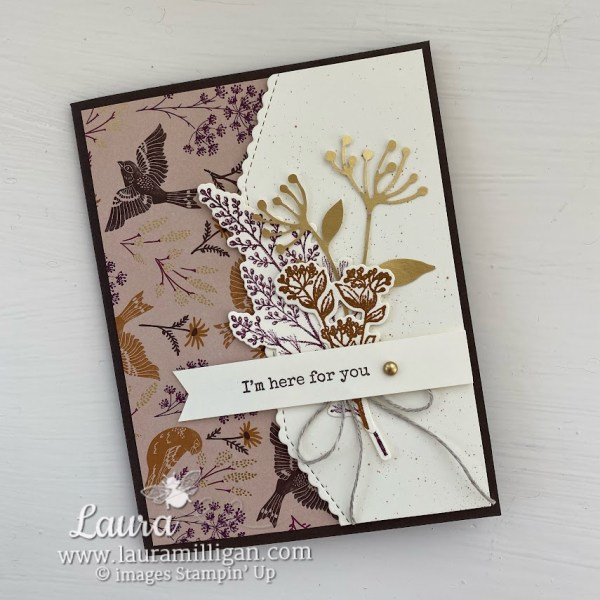 make a beautiful hand made card with Blackberry Beauty Suite by Stampin' Up - Laura Milligan demonstrator Earn Free Product