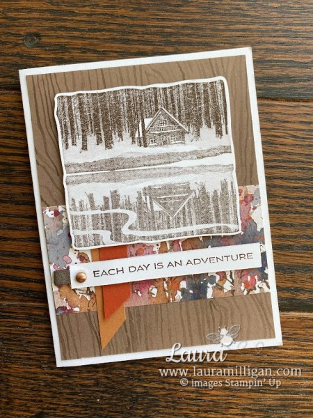 reflected in nature card created by Laura Milligan Stampin' Up! demonstrator Earn FREE Product