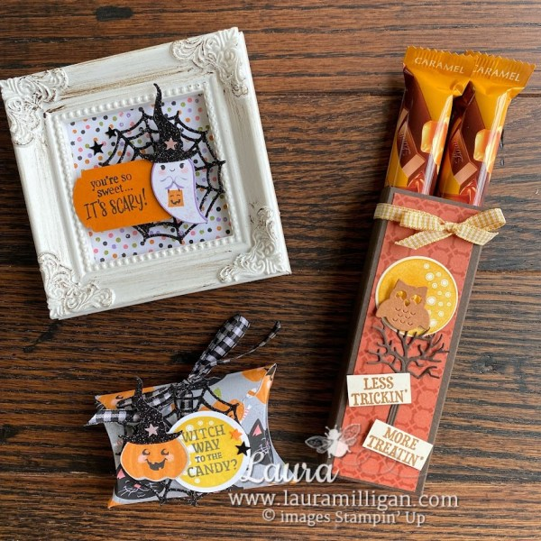 trio of halloween projects Frightfully Cute Bundle Stampin' Up! Laura Milligan Demonstrator