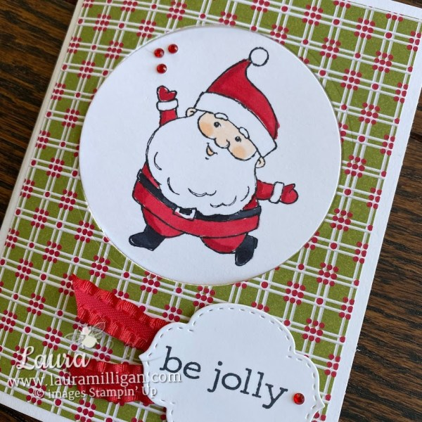 create a pop up card with Be Jolly stamp set by Laura Milligan Stampin' Up! Earn Free Product
