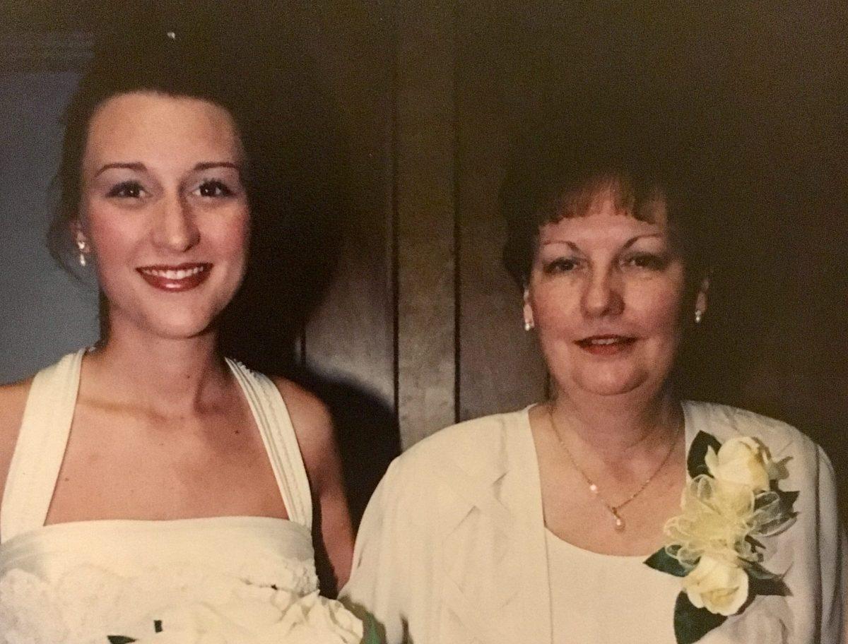 Mama and me at my wedding