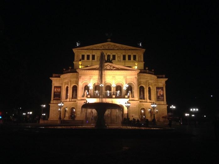 La antigua opera de Frankfurt