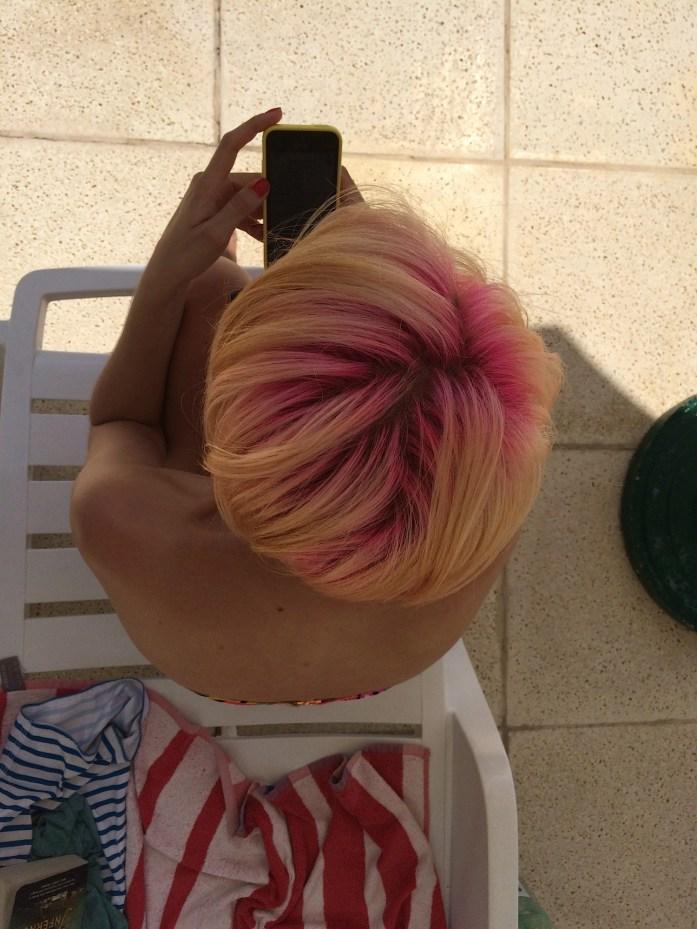 El pelo multicolor a la sombra