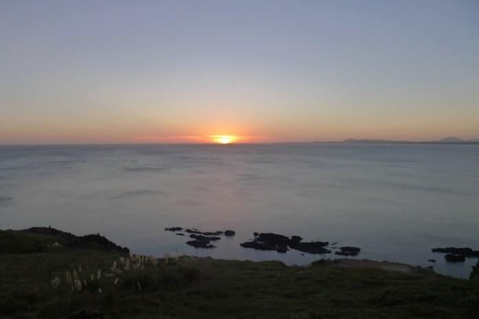 La puesta del sol desde Punta Ballena