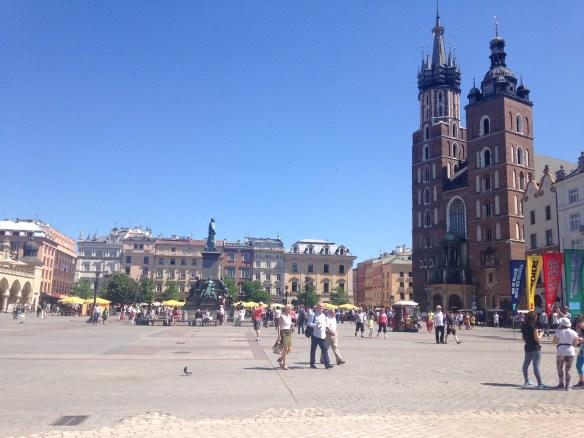 La plaza mayor de Cracovia