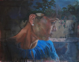 Remembering, 2016, oil on wood panel, 16 x 20