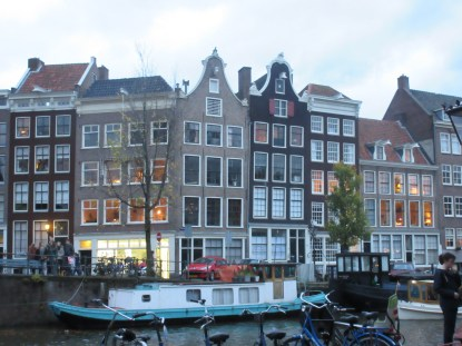 ...over the canals of Amsterdam