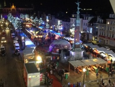 Part of the Christmas markets as seen from the top of the big wheel (it had to be done)