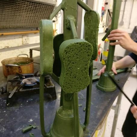 Wax sponges spured up