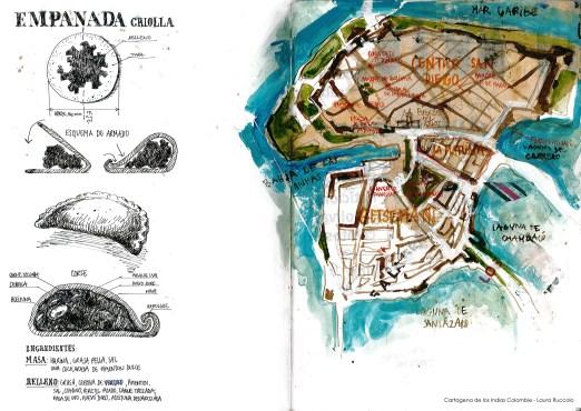 Carte de Cartagena de los Indias - Colombie