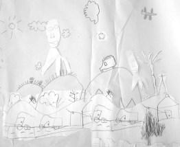 les fresques...plans des futurs jardins