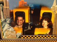 During the New York! New York! roller coaster ride