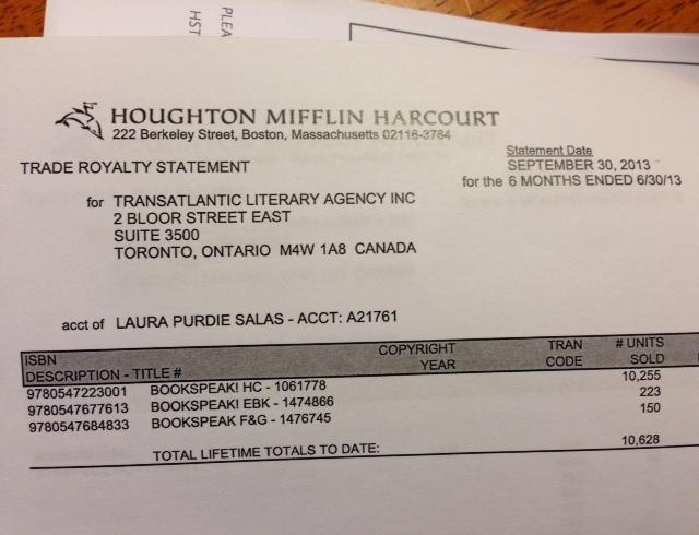 I did a happy dance when I got my royalty statement last week!