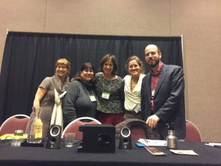 Laura Purdie Salas, Alyson Beecher, Sarah Albee, Loree Griffin Burns, and Chris Barton--we survived!