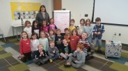 Kindergarten students with a love poem:>)