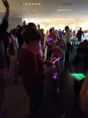 Glow stick pajama parade!