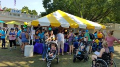 The MELSA tent was busy!