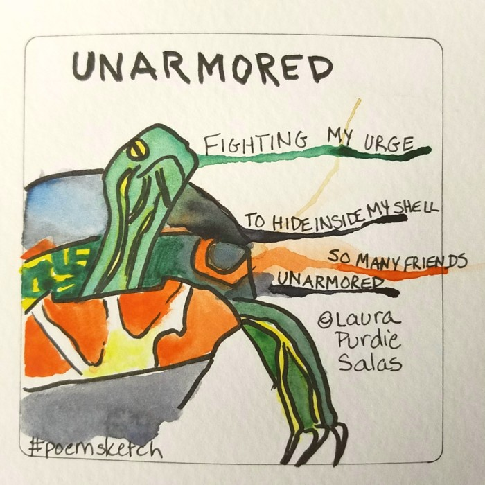Unarmored #poemsketch