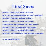 First Snow Triolet
