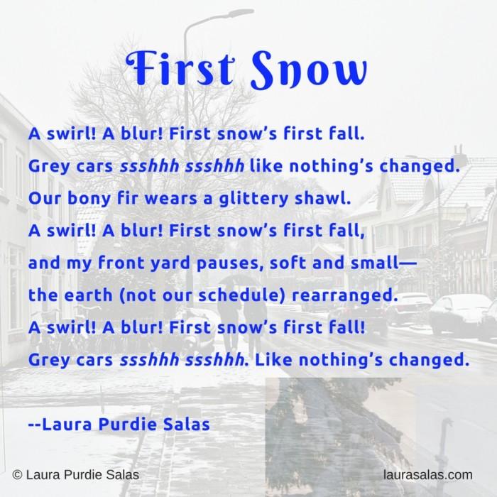 First Snow Triolet
