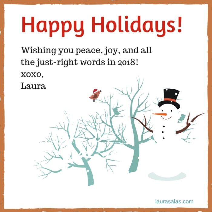 Happy Holidays 2017 for writers