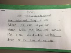 I adore this student poem (written after my visit)